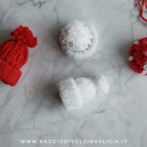 berretto in lana, decorazione per l'albero di Natale