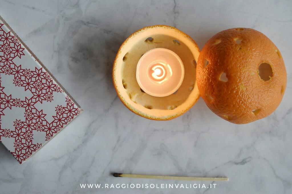 diy semplice porta candela arancia, decorazione per la casa