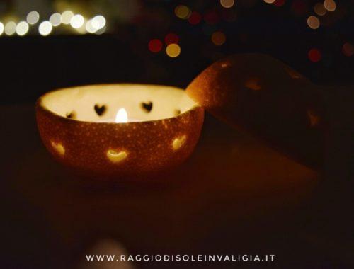fai da te semplice porta candela arancia, decorazione per la casa