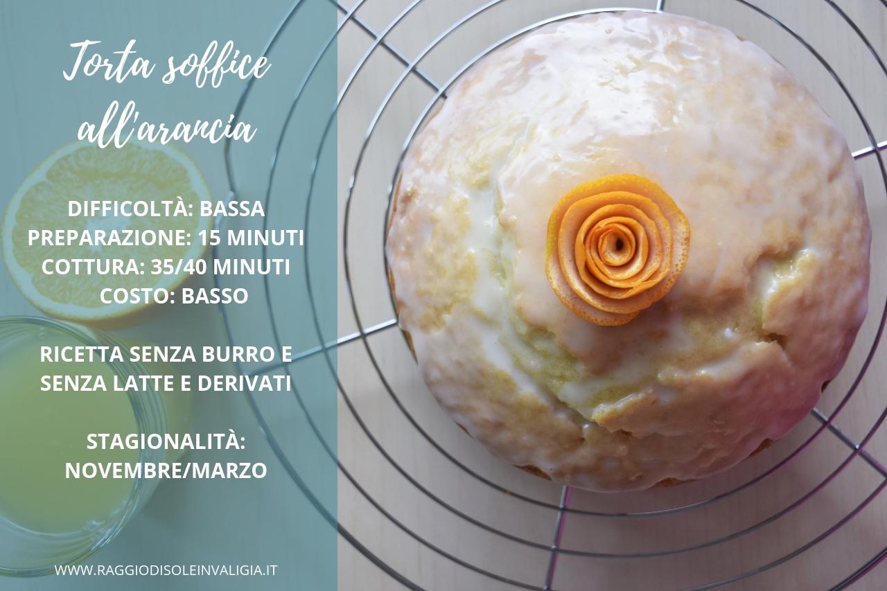 Torta soffice all'arancia senza burro, per la merenda/colazione invernale
