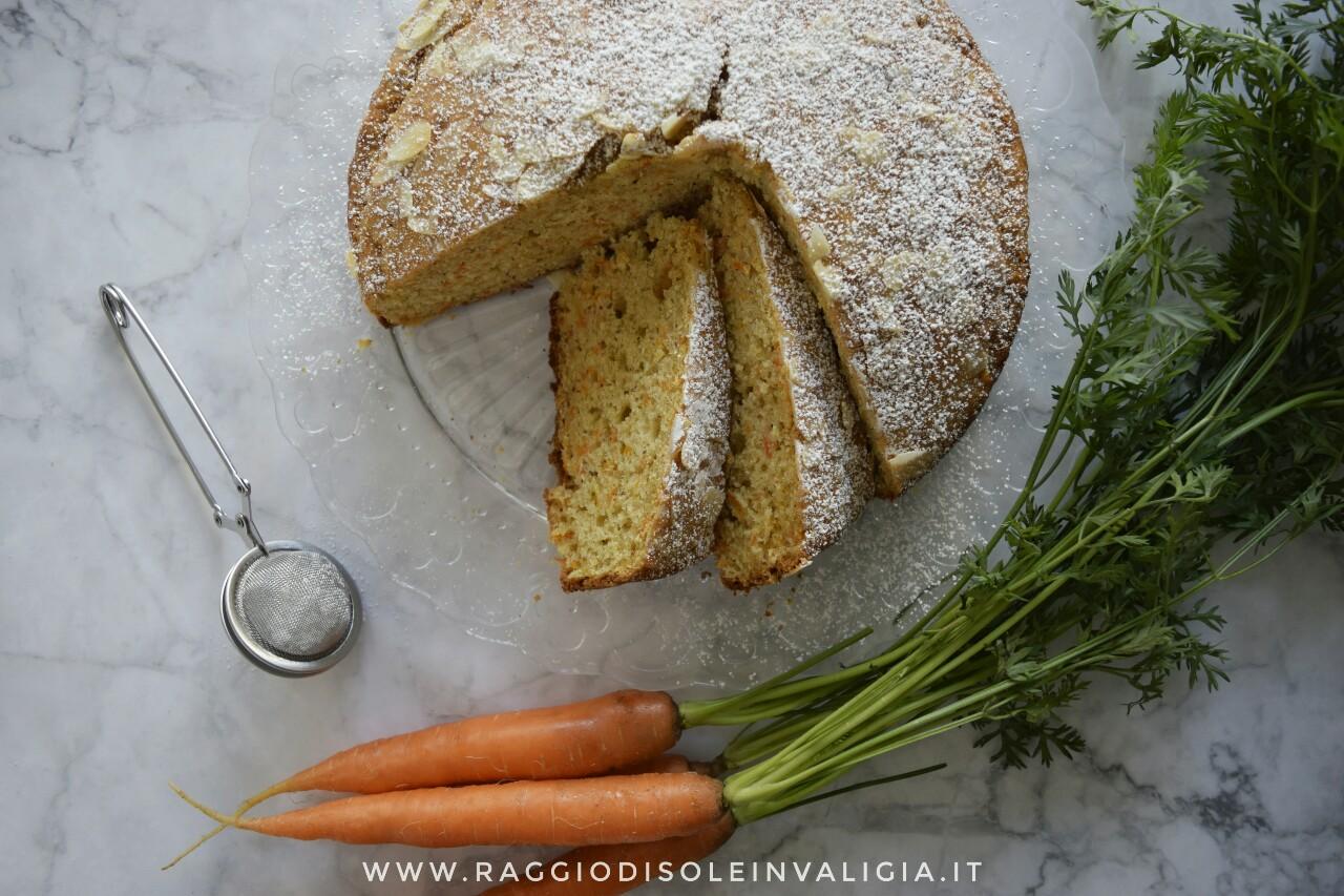 la mia torta camilla con carote e mandorle e olio, ricetta facile