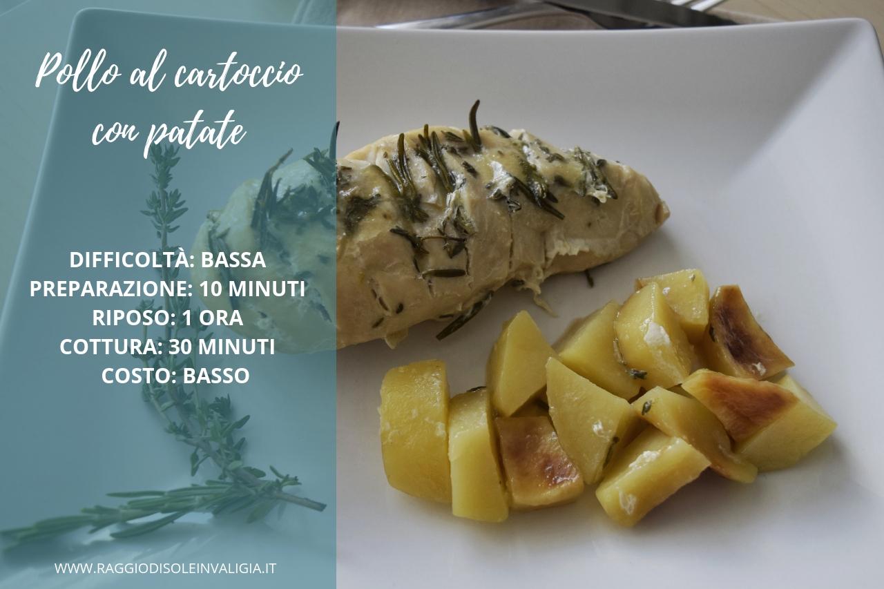 Pollo al cartoccio con patate, ricetta semplice