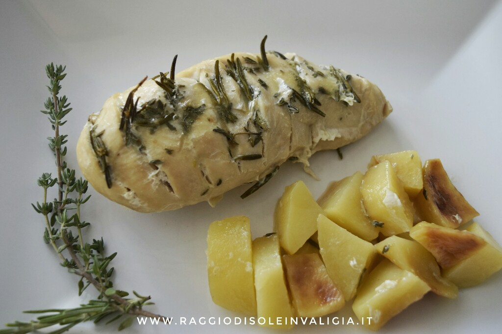 Pollo al cartoccio con patate