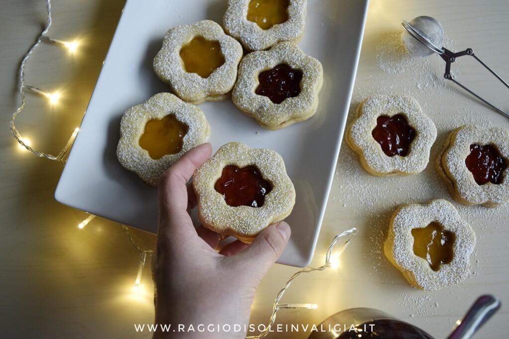 i miei biscotti occhio di bue alla marmellata fatti in casa