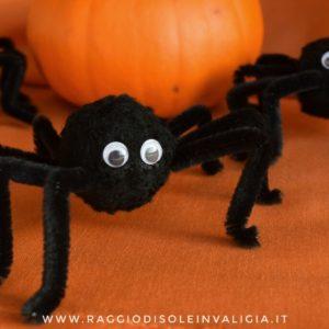 ragni fai da te per halloween, diy semplice