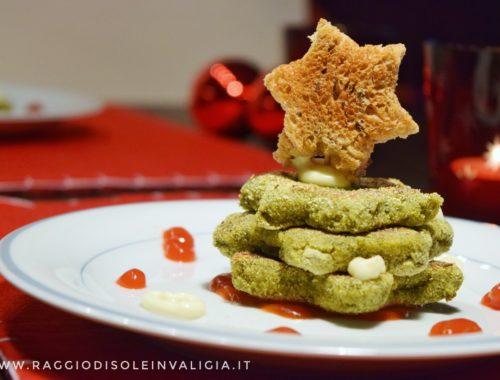 burger di Natale vegetariani con legumi e verdure invernali