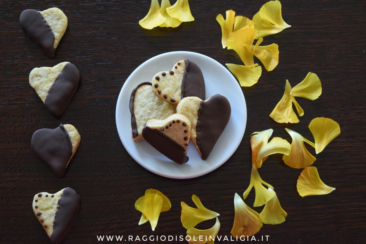 biscotti arancia e cioccolato fondente, regalo fai da te festa degli innamorati