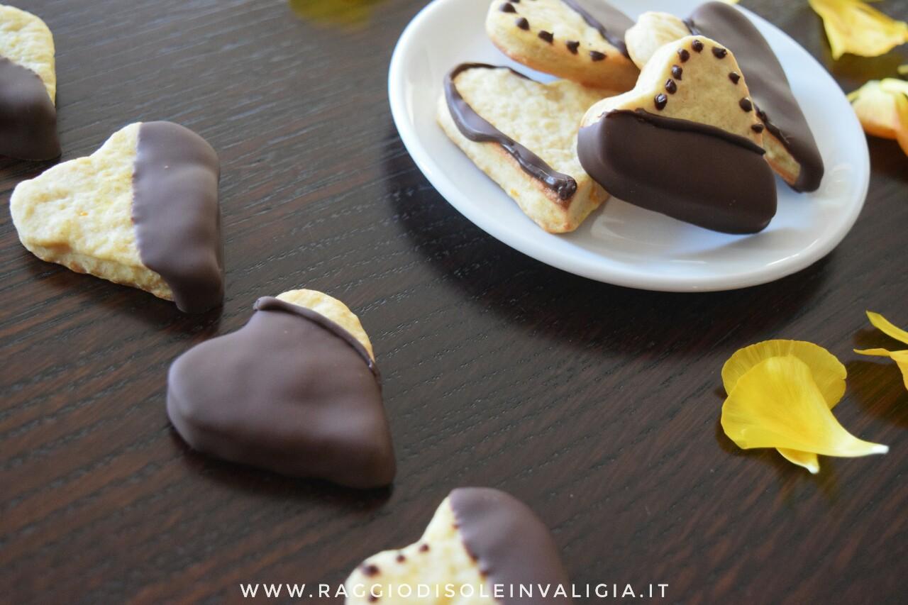 biscotti arancia e cioccolato fondente, san valentino
