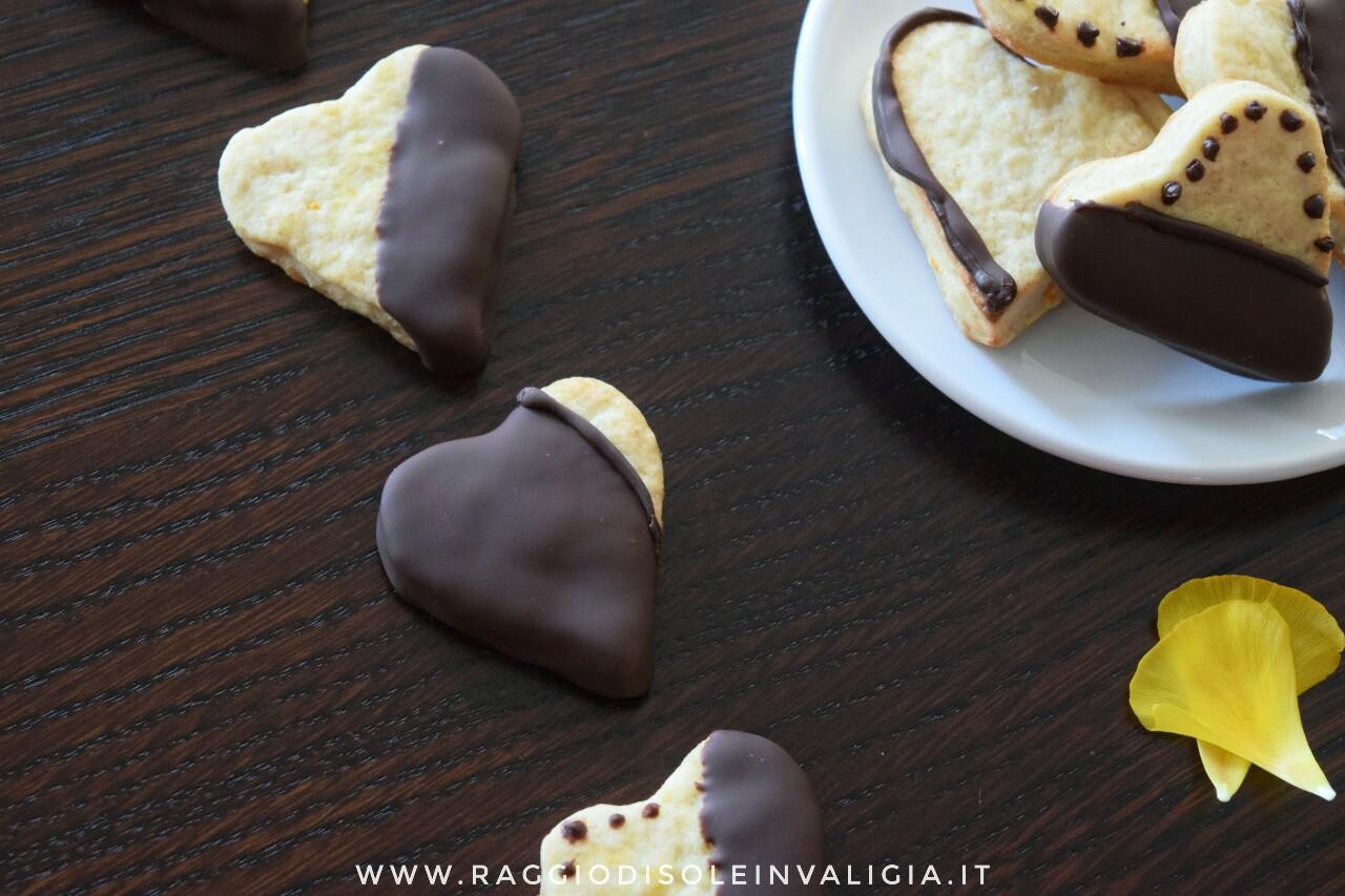 biscotti arancia e cioccolato fondente, idea regalo san valentino