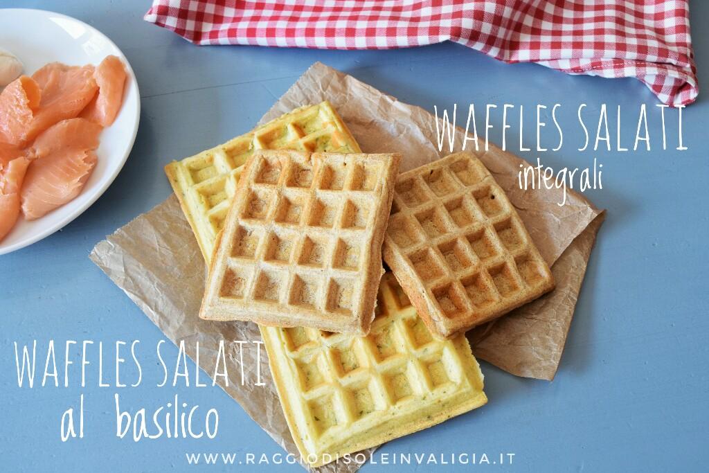 waffle salati, senza burro in due versioni golose