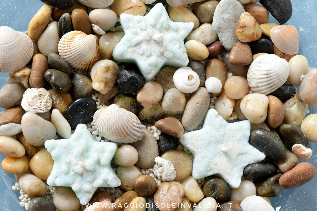 candele stelle marine fai da te, idea centro tavola