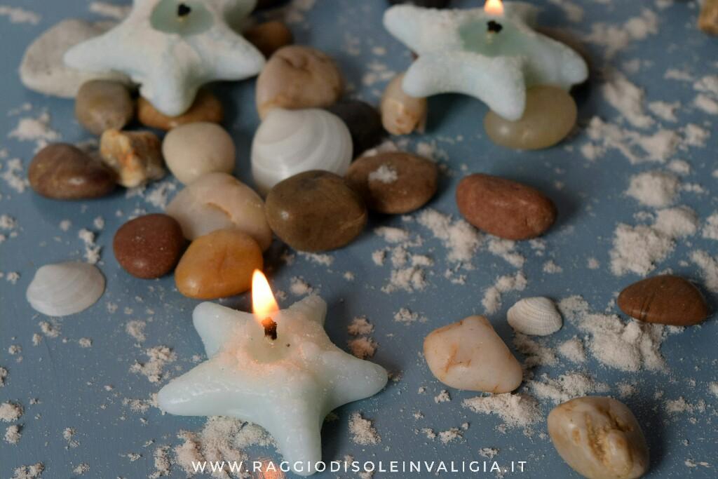 candele stelle marine fai da te per l'esate