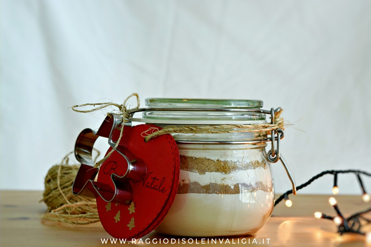 omini gingerbread in a Jar idea regalo