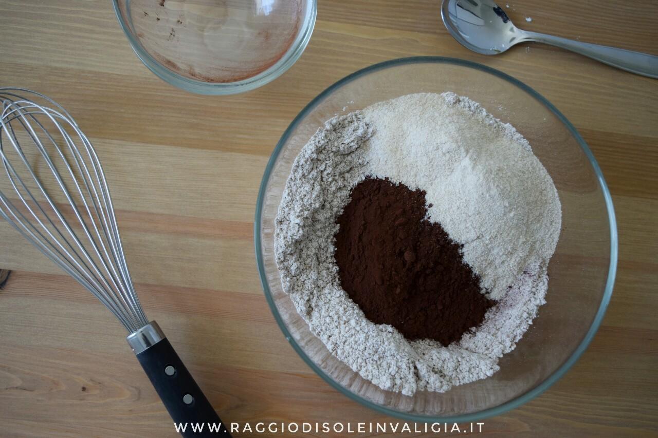 dolcetti cocco e cioccolato preparazione