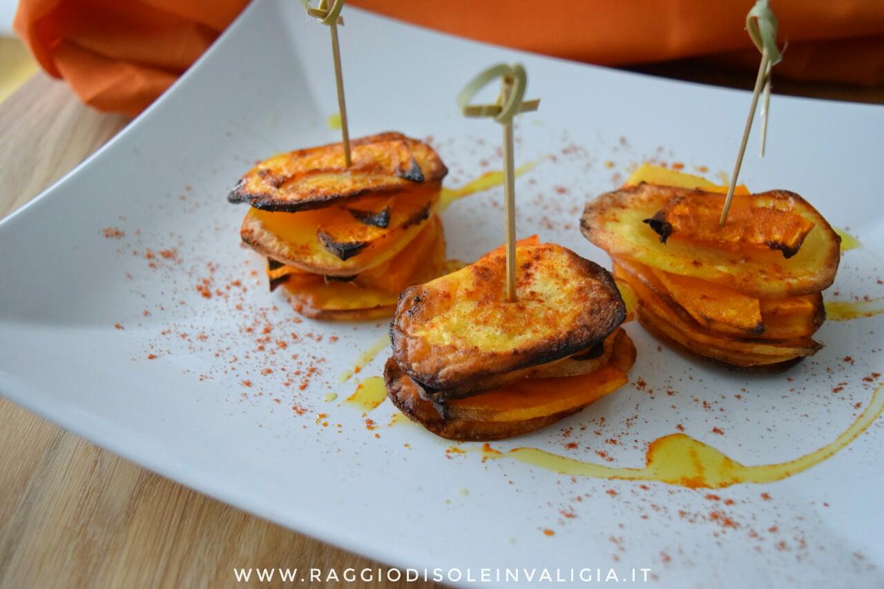 torrette di zucca e patate alla paprika