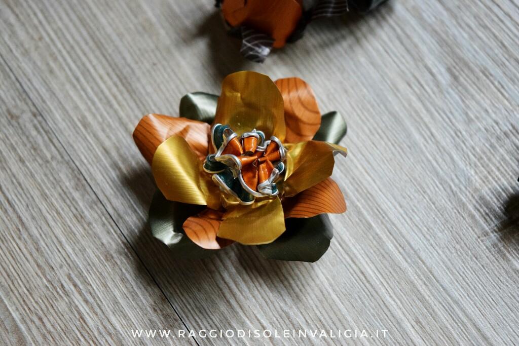 la mia prima intervista e fiori di riciclo capsule caffè
