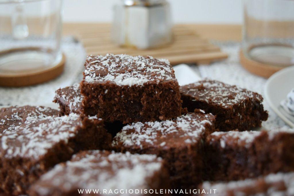 quadrotti da colazione cocco e cioccolato