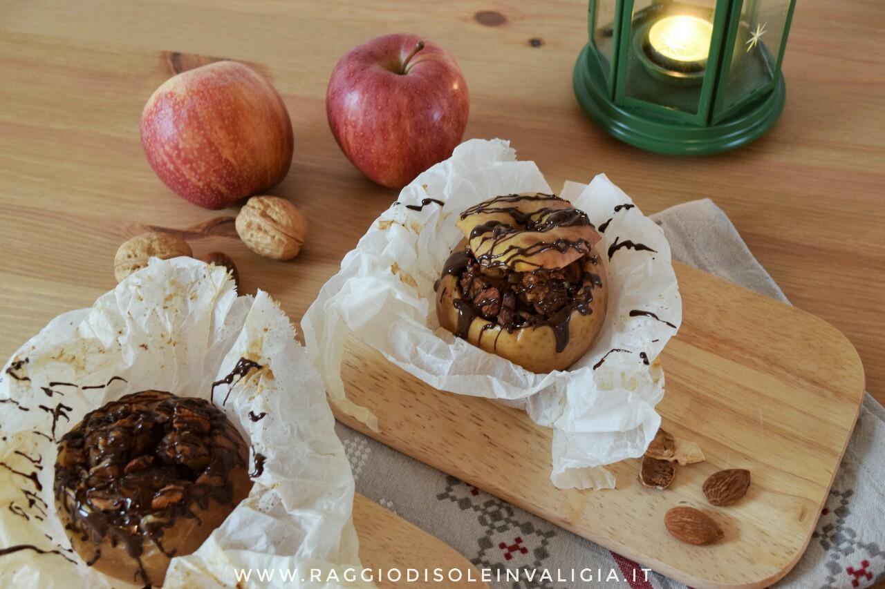 mele ripiene al cartoccio con cioccolato e frutta secca