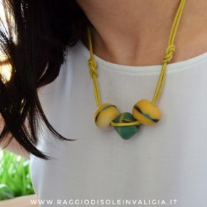 collana handmade senza metalli