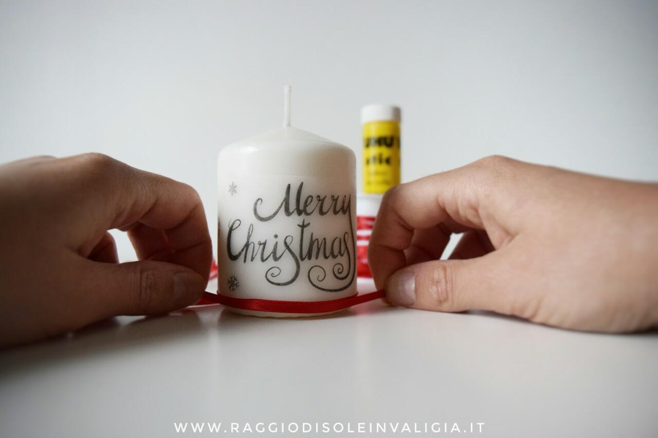 candela decorativa natalizia, procedimento