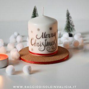 candela decorativa, idea regalo fai da te per Natale