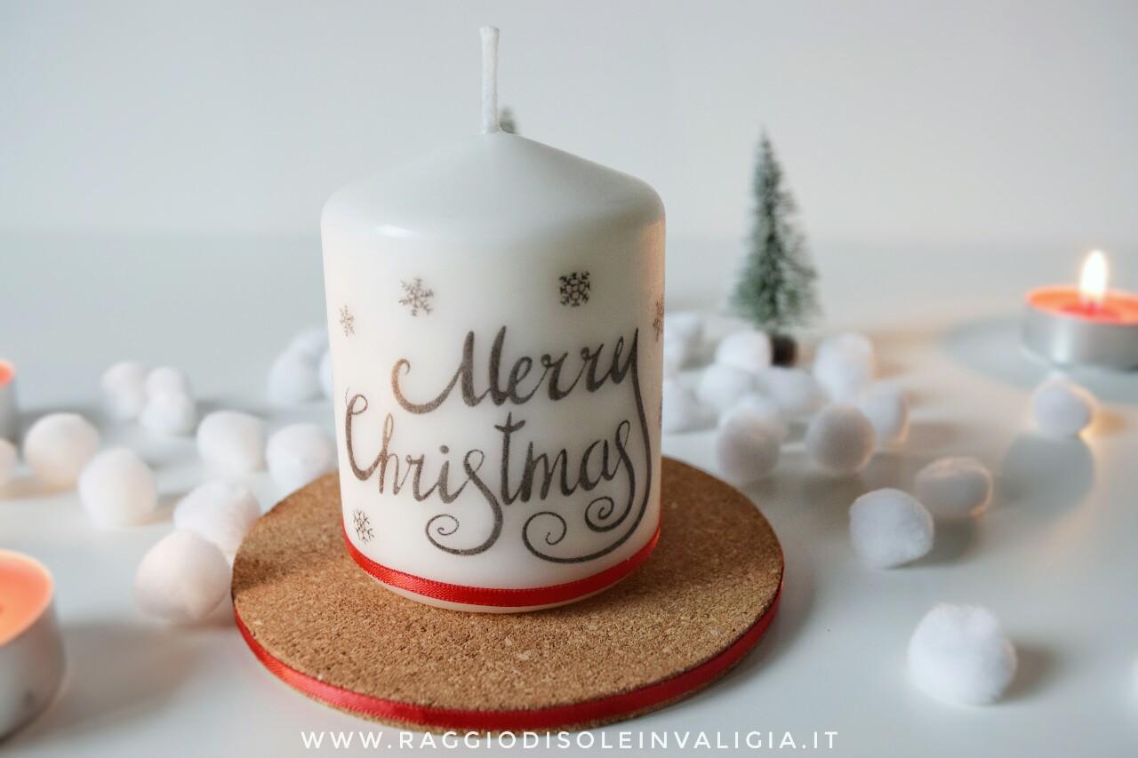 Candela decorativa natalizia, diy semplice e veloce