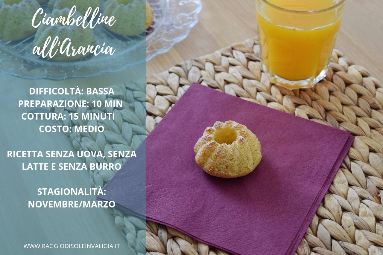 Ciambelline semplici all'arancia, senza uova