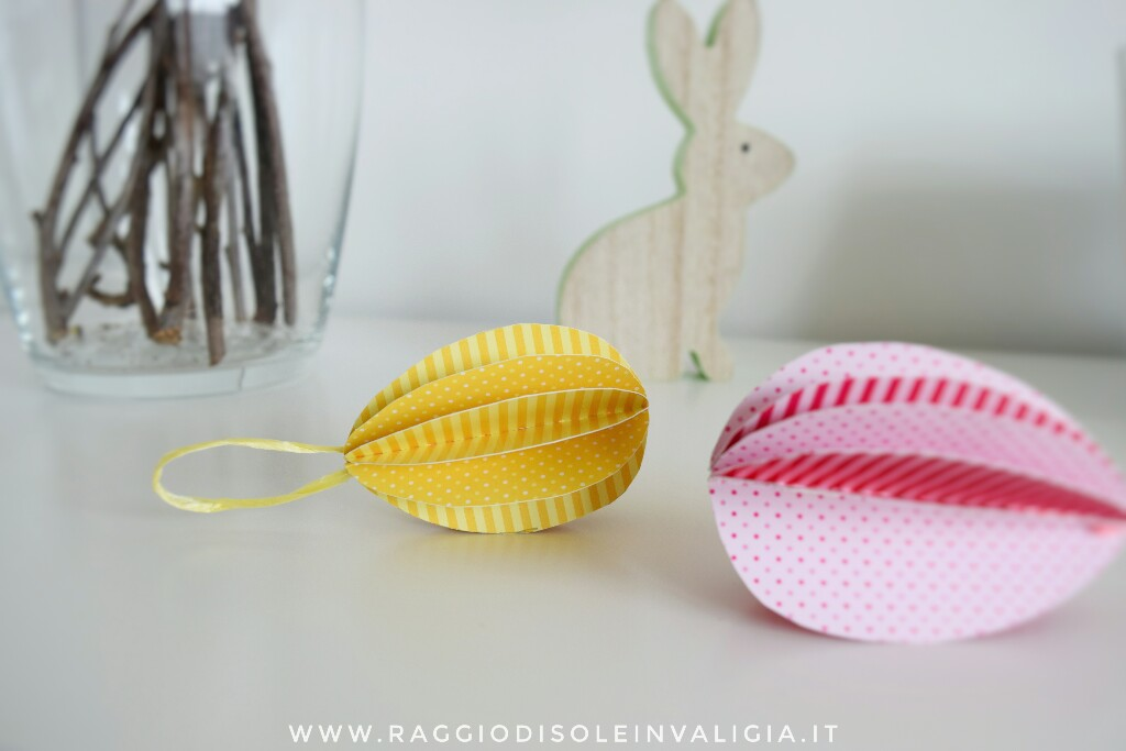 diy pasquale, uova in cartoncino colorato