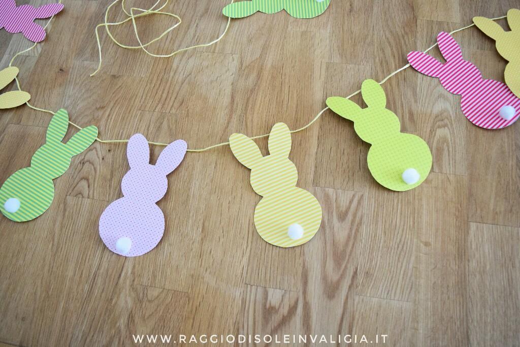 diy pasquale: ghirlanda di coniglietti