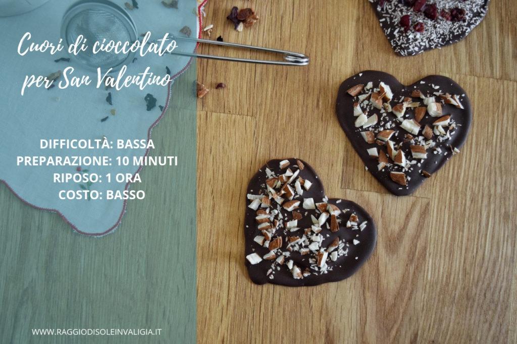 Cuori di cioccolato per San Valentino, idea regalo fai da te