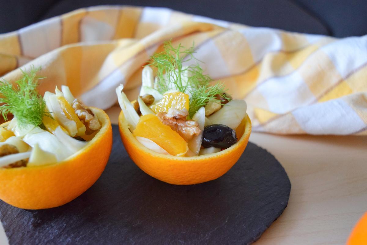 Insalata ivernale con arance e finocchi