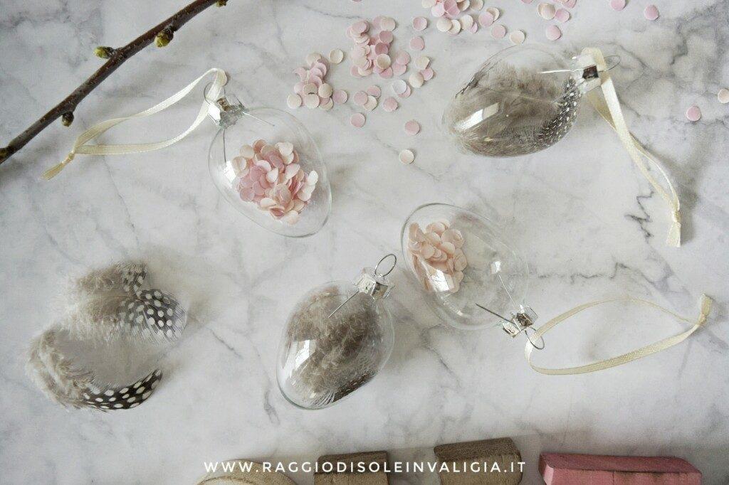Decorazioni pasquali con le uova trasparenti, fai da te semplice e veloce