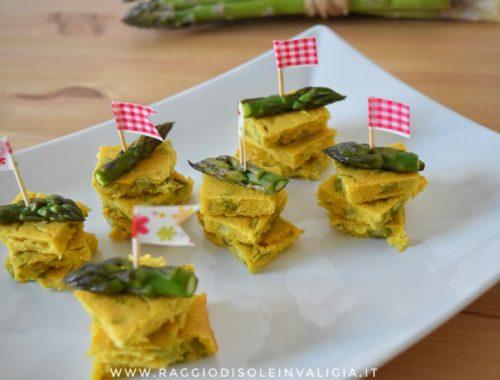 Spiedini di farifrittata agli asparagi