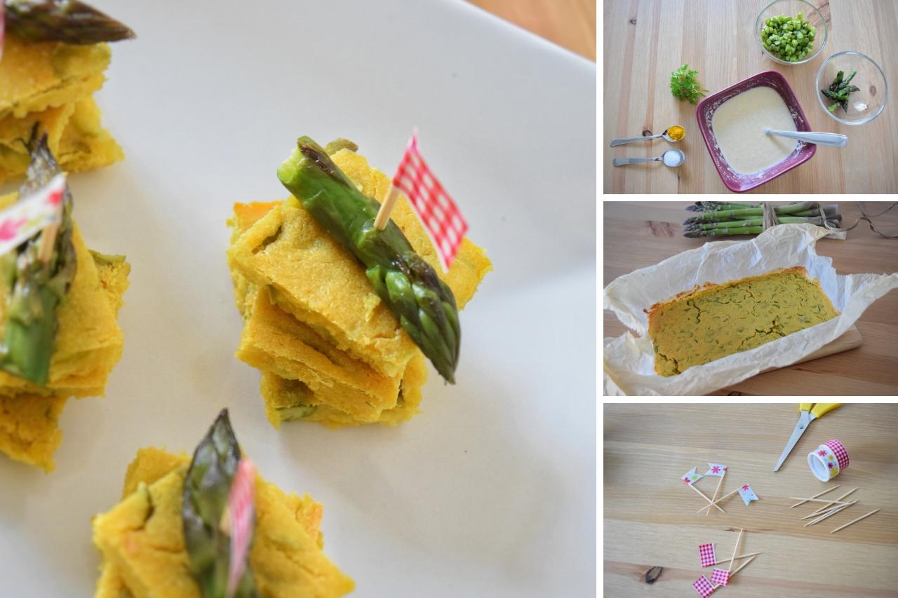 Spiedini di farifrittata agli asparagi, ricetta semplice e veloce
