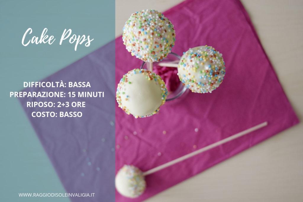 Cake pops antispreco con cioccolato bianco