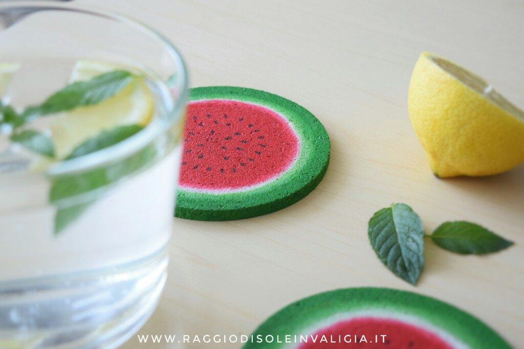 Sottobicchieri anguria fai da te per l'estate