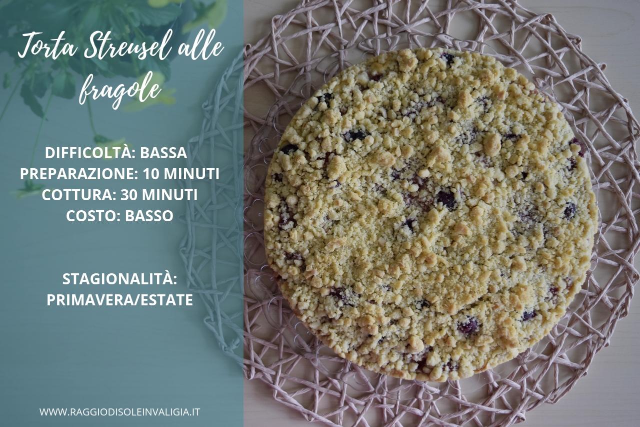 Torta Streusel alle fragole, ricetta semplice e veloce
