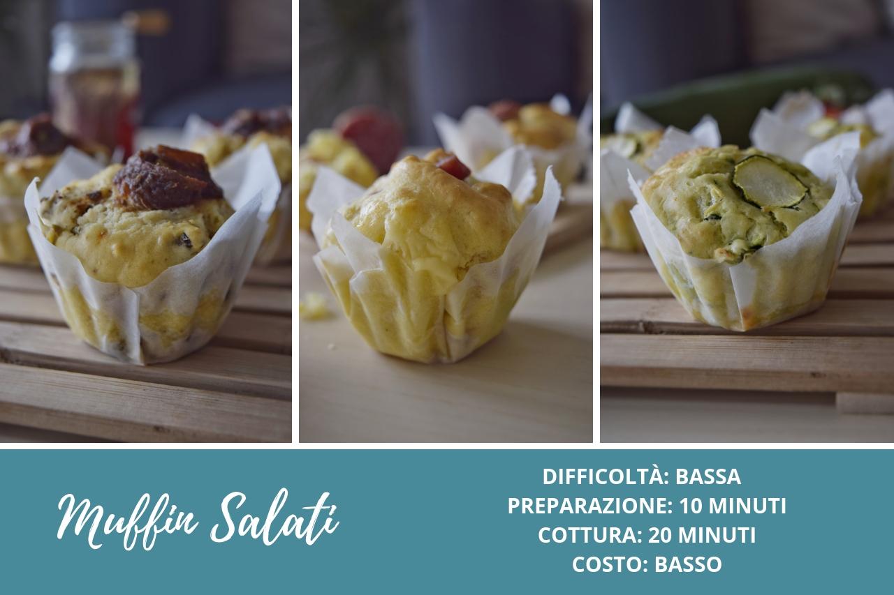 Ricetta semplice per preparare i muffin salati senza burro in 3 varianti