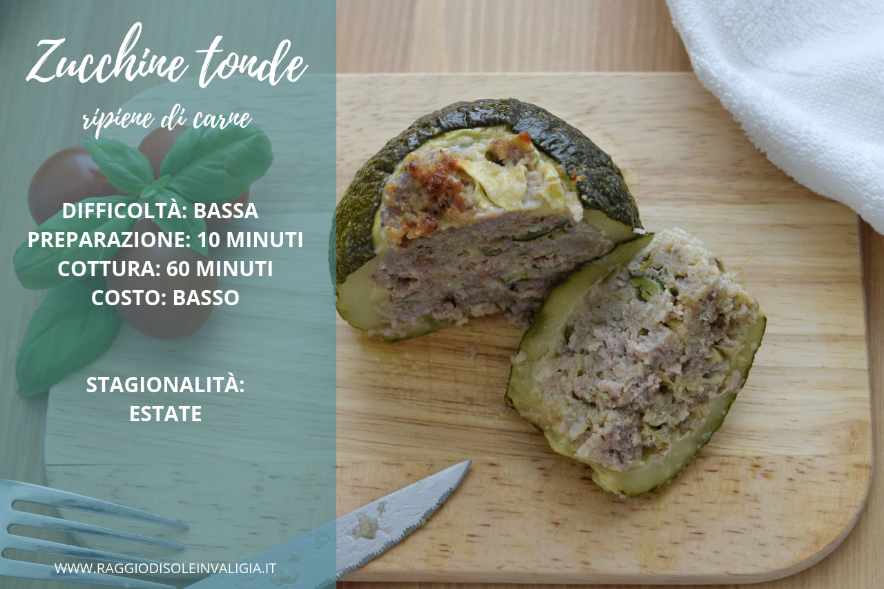 ricetta semplice zucchine tornde ripiene di carne