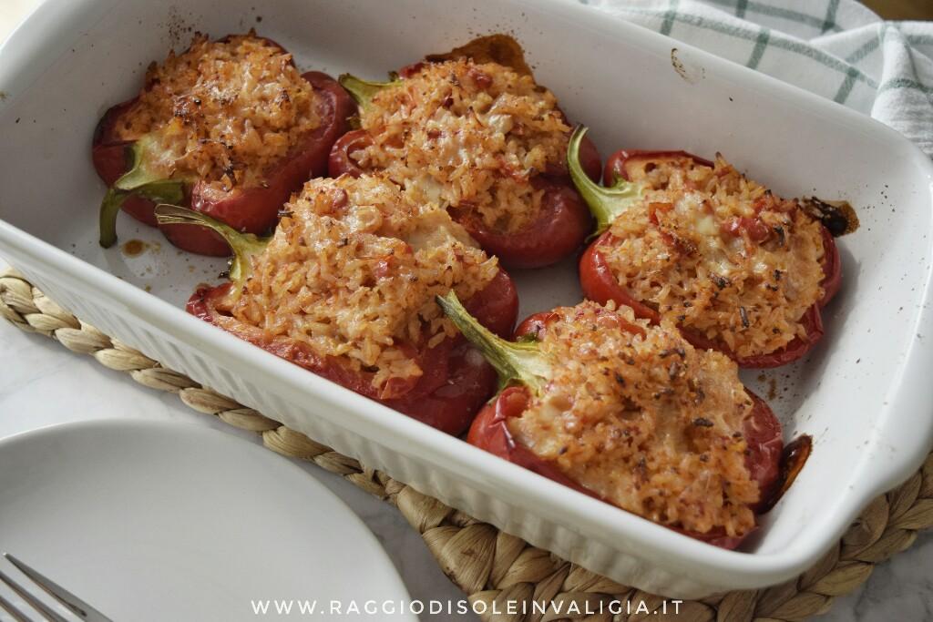come preparare dei gustosi peperoni ripieni con riso allo zenzero