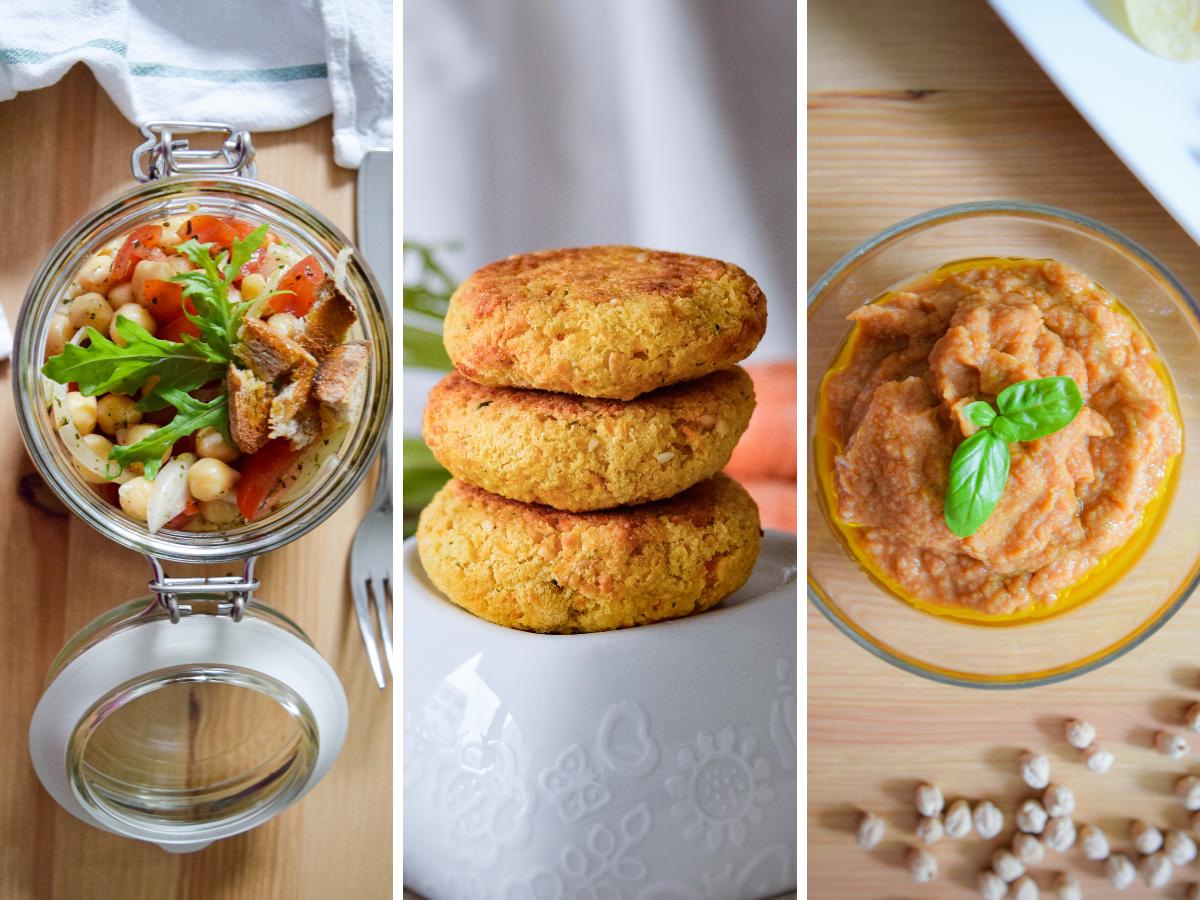 3 ricette buone, sane e veloci con i ceci