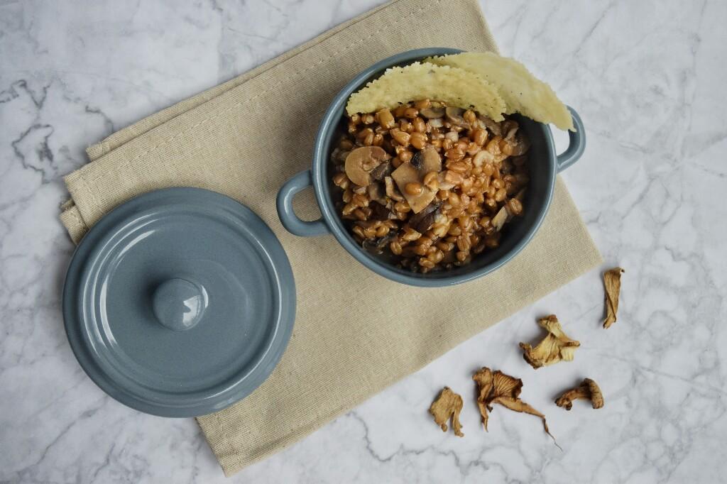 Ricetta semplice e gustosa: farrotto ai funghi