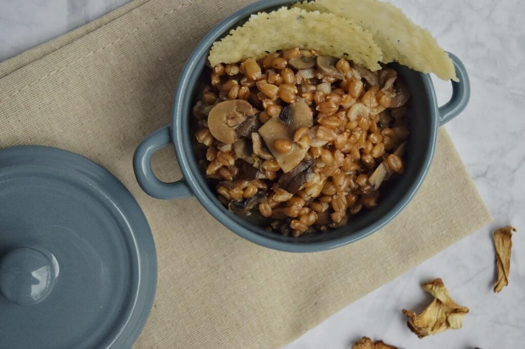 Farrotto ai funghi, ricetta semplice e gustosa