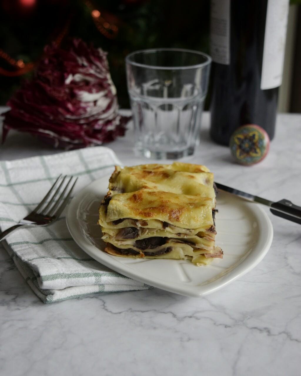 Ricetta semplice: lasagne con radicchio e formaggio brie