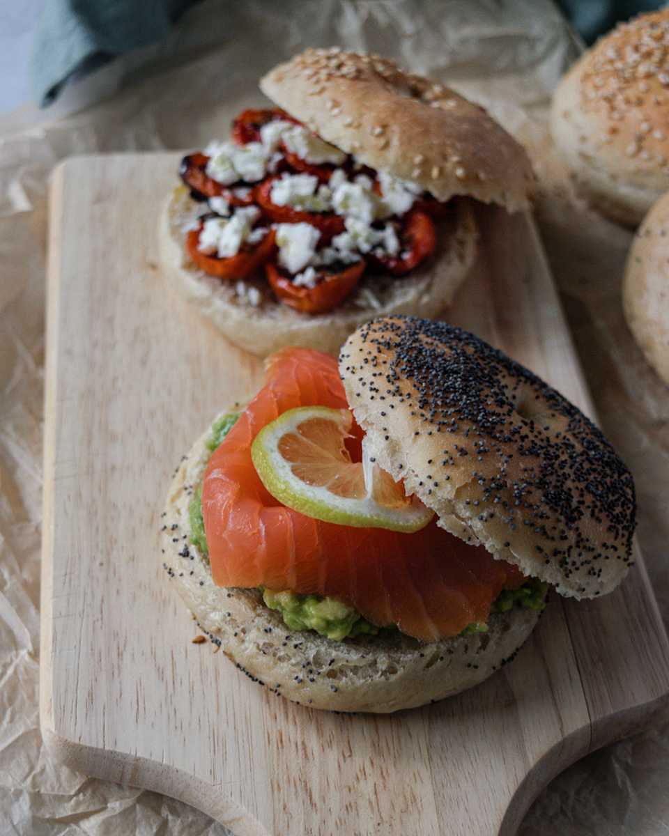 Ricetta bagel con salmone affumicato e avocado