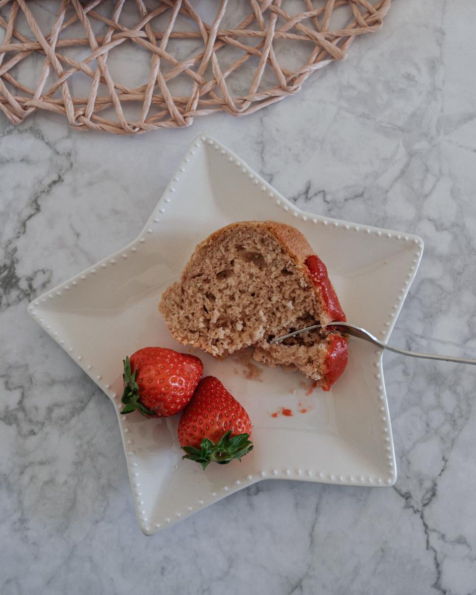 Ciambella pan di fragole, ricetta senza burro