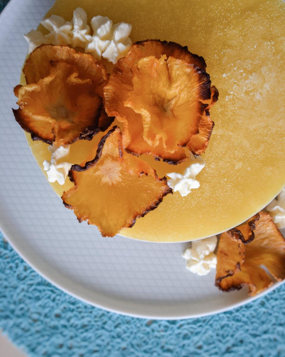 Fiori di ananas essiccati, per decorare dolci
