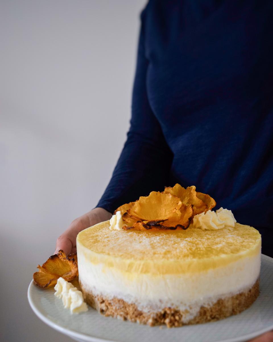 Ricetta senza cottura cheesecake gelato esotica