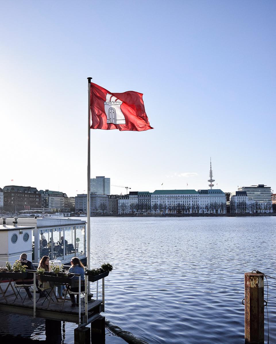 Lago Alster Amburgo