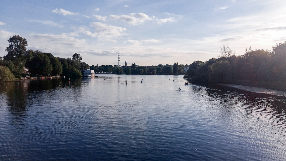 Lago Alster ad Amburgo